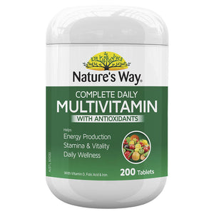Nature's Way Complete Daily Multivitamin 200 Tablets