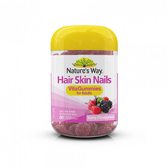 Nature's Way Vita Gummies Adult Hair Skin Nail 60 Gummies