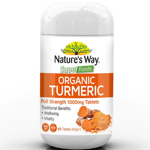 Nature's Way Super Foods Turmeric 1000mg 60 Tablets