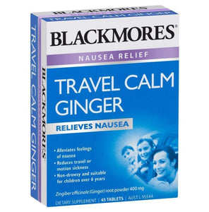 Blackmores Travel Calm Ginger 45 Tablets