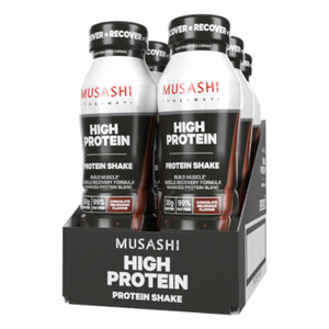 Musashi HIGH PROTEIN Shake 375ml (Box of 6 Drinks) Chocolate Flavour