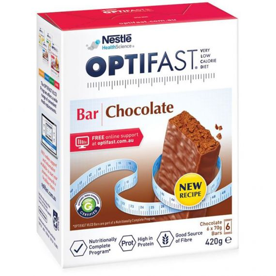 Optifast VLCD Bars Chocolate 65g - 6 Pack