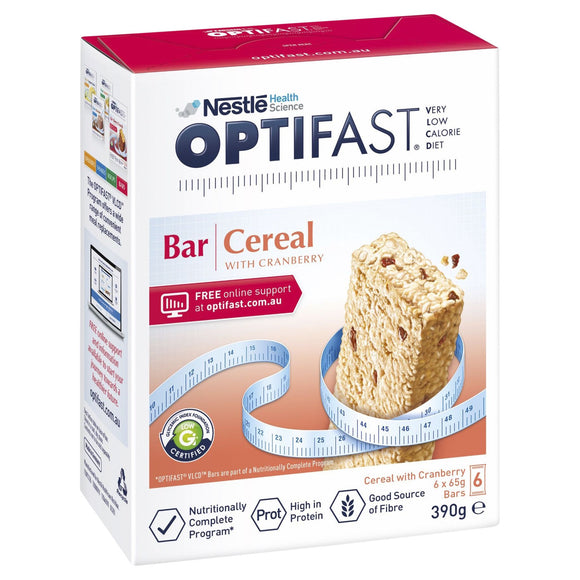 Optifast VLCD Bars Cereal 65g - 6 Pack