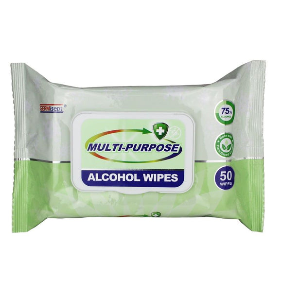 Germisept Multi Purpose Alcohol Wipes 50 Pack