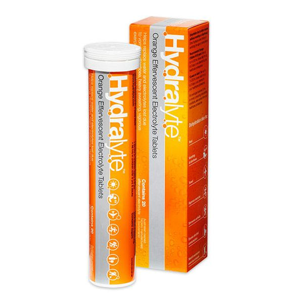 Hydralyte Electrolyte Effervescent Orange 20 Tablets