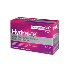 Hydralyte Electrolyte Powder 24 Sachets - Apple Blackcurrant