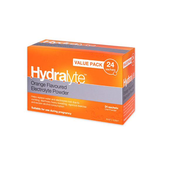 Hydralyte Sachets Value Pack 4.9g x 24 (Orange)