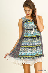 Harper Sleeveless Print Dress