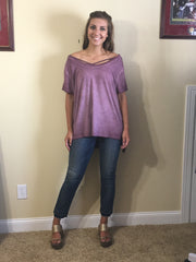 Bella High Low Berry Top