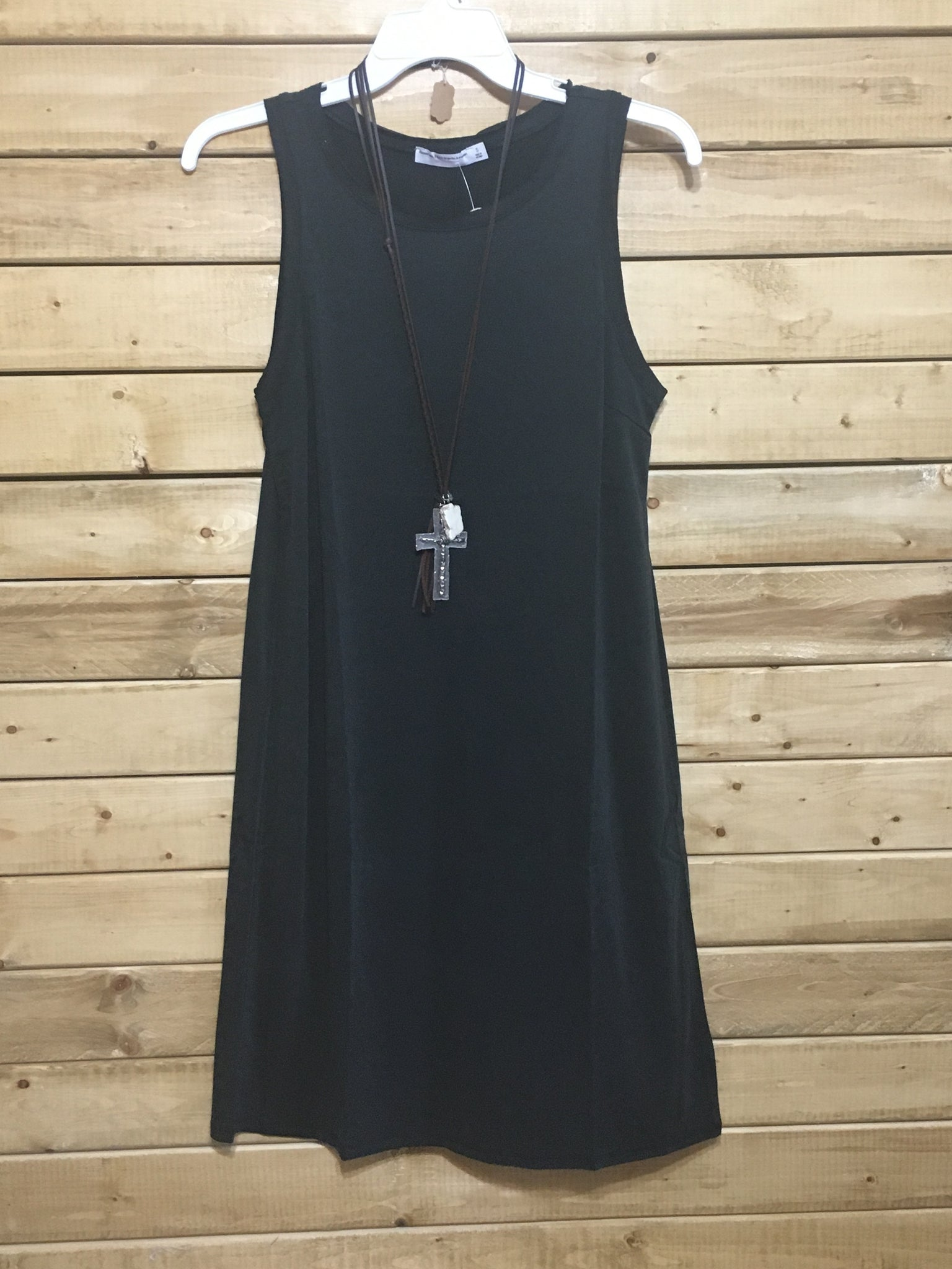 Justine Sleeveless Dress Black