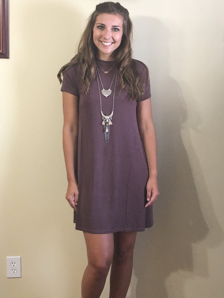 Julia Cap sleeve dress Marsala