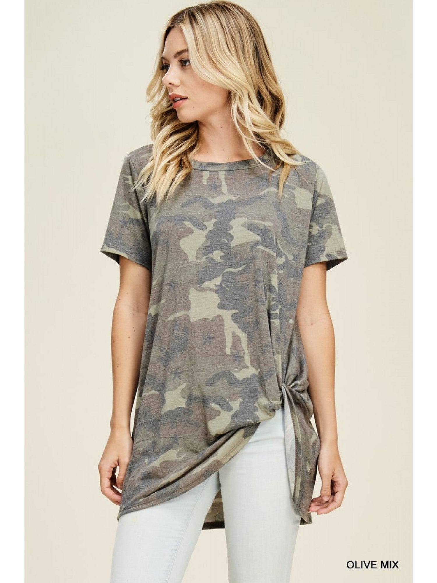 Camouflage Twist Top
