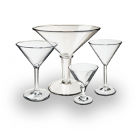 100% Acrylic Martini Glasses