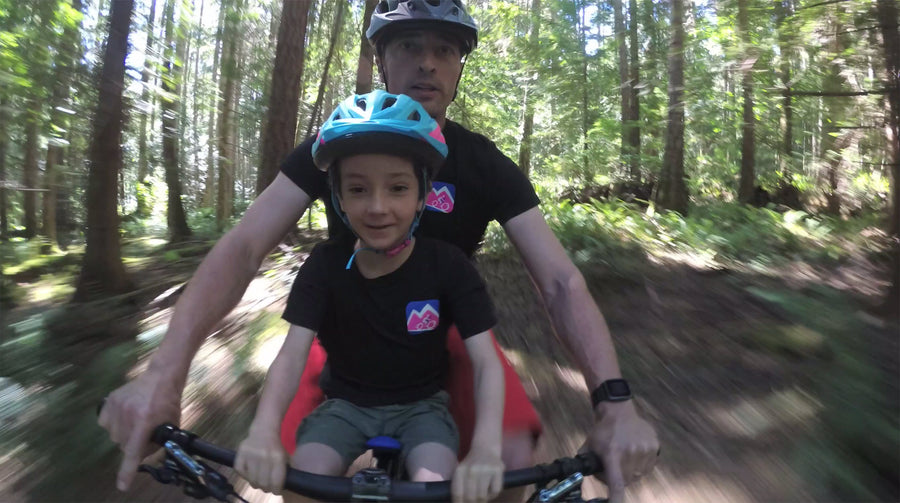 Mac Ride, the ultimate child bike seat for everyday riding and mountain biking. The Spirit of Family Adventure!