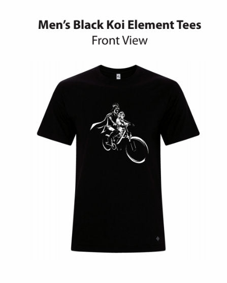 Darth & Luke Mac Ride - Black Short Sleeve T-Shirt (Unisex)