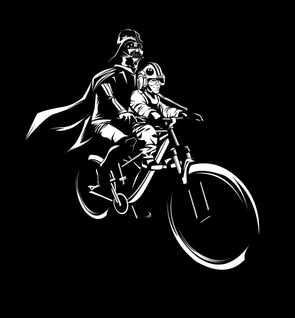 UNISEX - LUKE and Darth Mac Ride - Black Short Sleeve T-Shirt