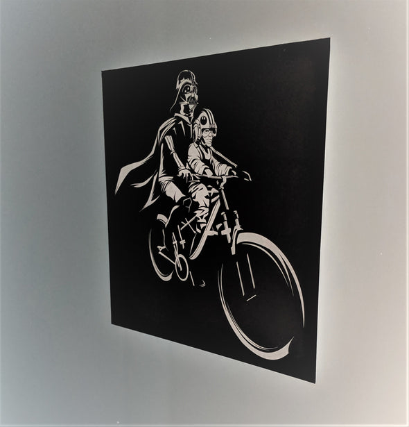 Vinyl LUKE & Darth Decal/Sticker