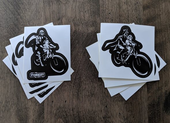 Darth and Child PVC Stickers
