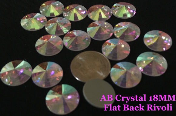 Flat Back Crystal Rivoli & Other Large Stones