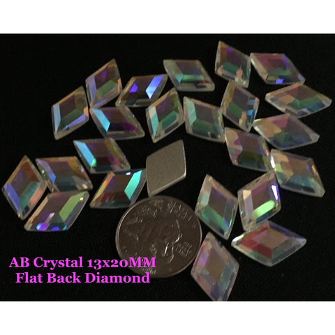 AB Crystal 13x20MM Flat Back Diamond