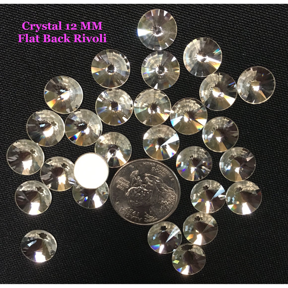 Crystal 12 MM Flat Back Rivoli