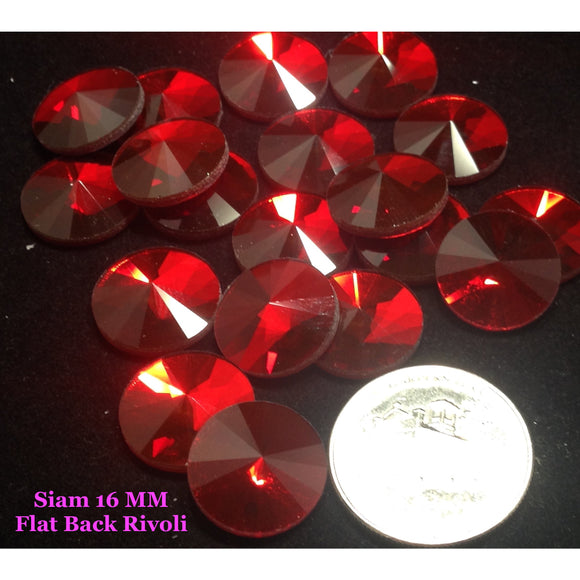 Siam 16 MM Flat Back Rivoli