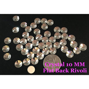 Crystal 10 MM Flat Back Rivoli