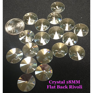 Crystal 18 MM Flat Back Rivoli