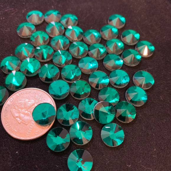 Blue Zircon 10 MM Flat Back Rivoli