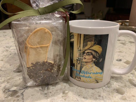 Good Morning A$$Hole Coffee Mug With Cookies!!!