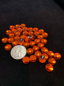 Orange 10 MM Flat Back Rivoli