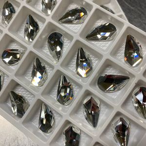 Crystal 9x16MM Flat Back Left Drip