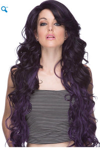 Primrose  Lace Front Dark Purple And Black
