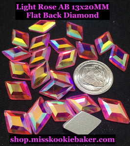 Light Rose AB 13x20MM Flat Back Diamond