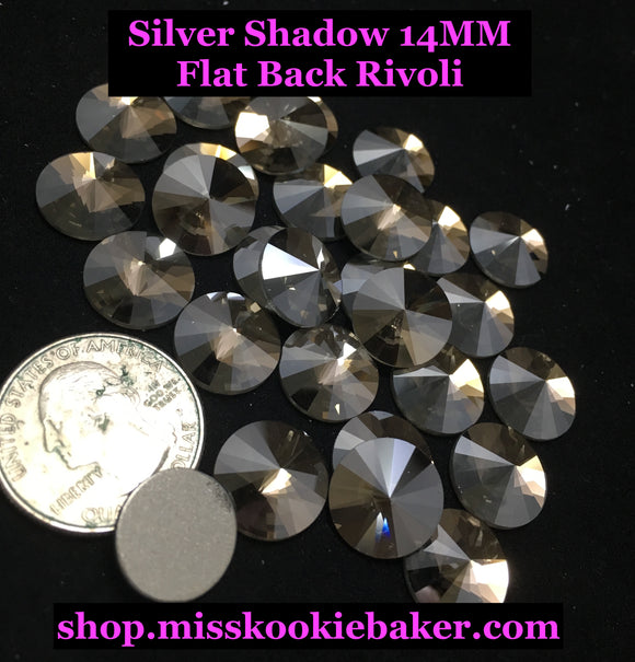 Silver Shadow 14 MM Flat Back Rivoli