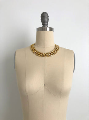 "Vintage 17"" Chunky Gold-Tone Necklace"