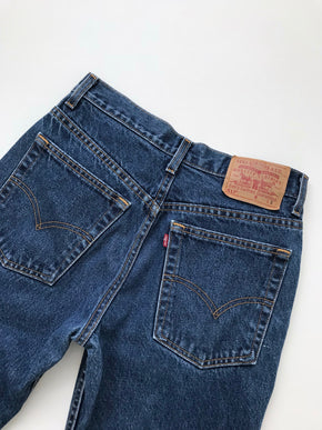 Women's Vintage Levi's 517 Cotton Dark Denim Jeans by Levi's | 29.5 Inch Waist | Canary Club Vintage