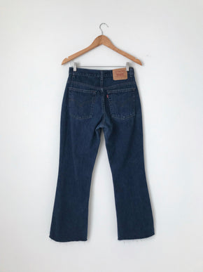 Women's Vintage Levi's 515 Dark Cotton Denim Jeans by Levi's | 30 Inch Waist | Canary Club Vintage