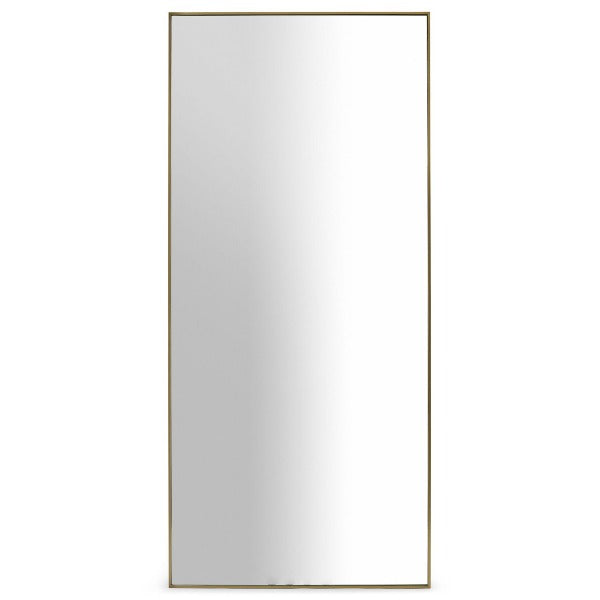 Emery oversized floor mirror in Brass