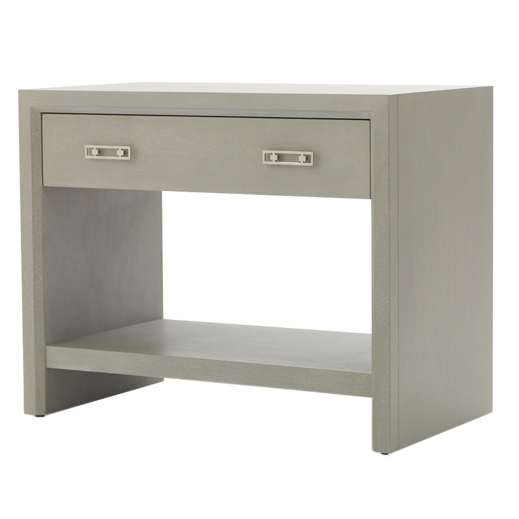 MALIBU BEDSIDE TABLE - GRAY