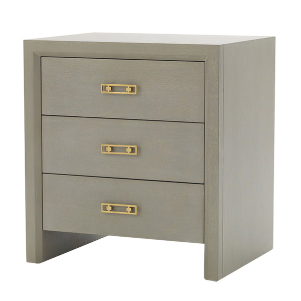 MALIBU 3 DRAWER SIDE TABLE - GRAY
