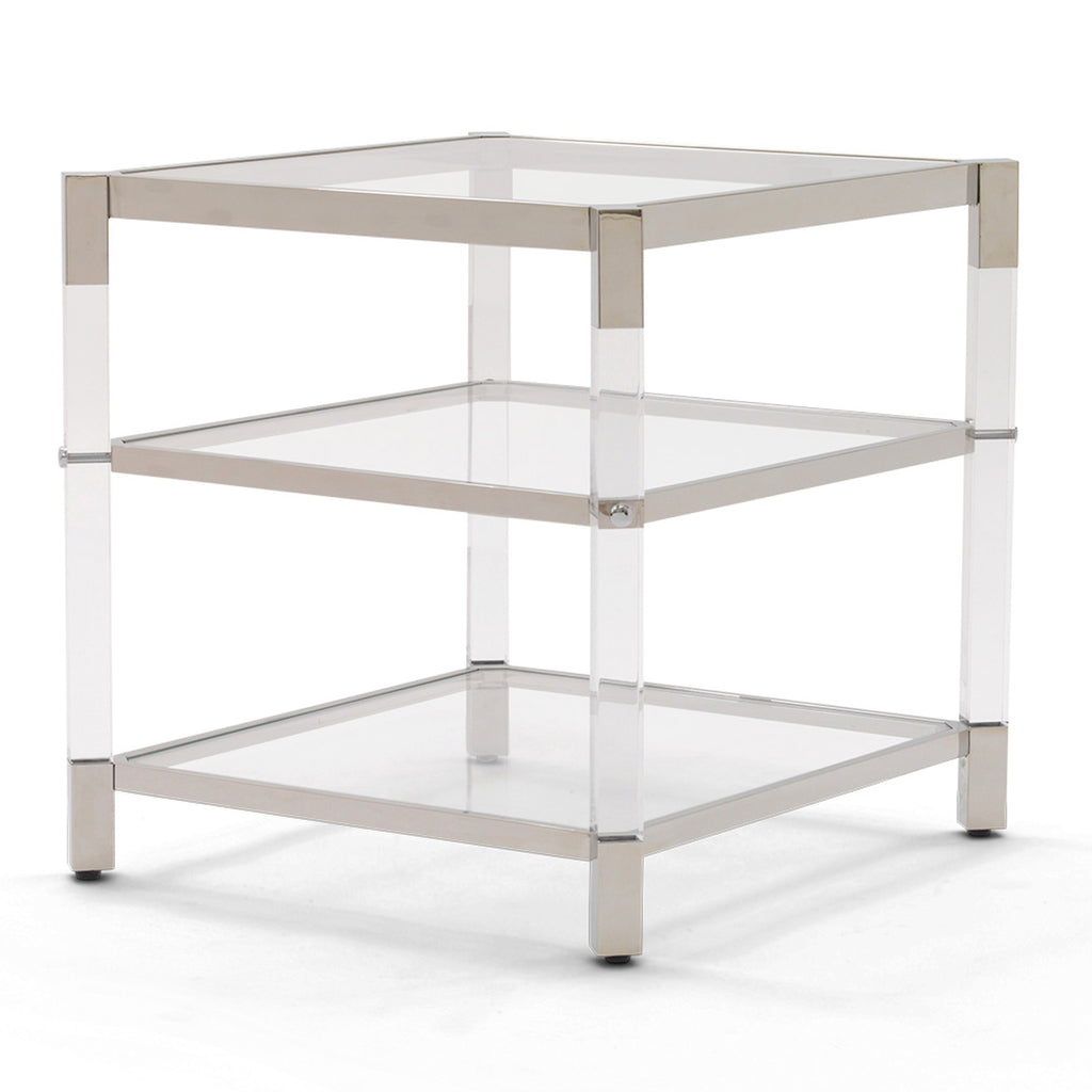 MELROSE 2 SHELF SIDE TABLE
