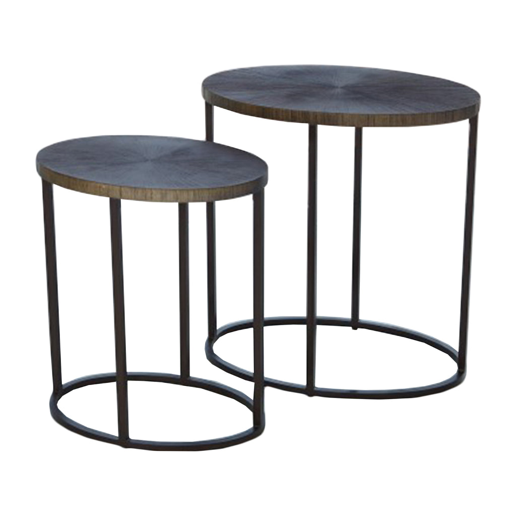 STRIATED ACCENT TABLE