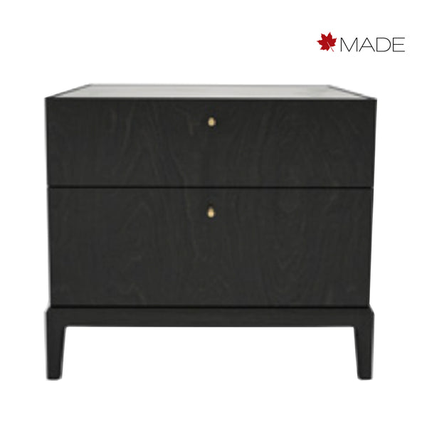 HEMRIK 2 DRAWER WIDE NIGHTSTAND