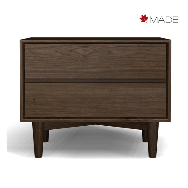 JENSEN 2 DRAWER BEDSIDE CHEST