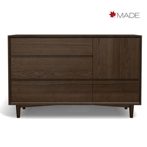 JENSEN 4 DRAWER 1 DOOR DRESSER
