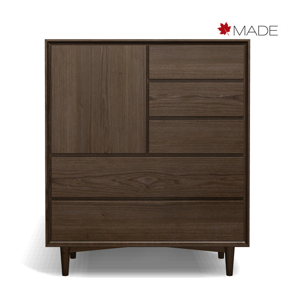 JENSEN 5 DRAWER 1 DOOR CHEST