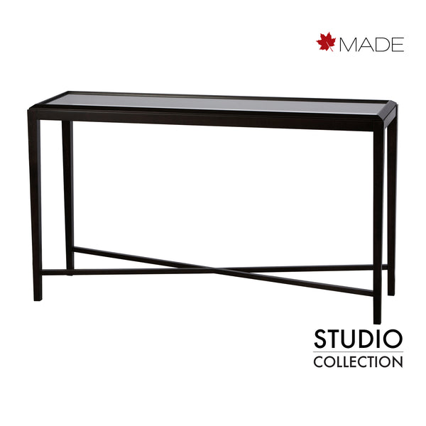 MELROSE SOFA TABLE W/GLASS TOP