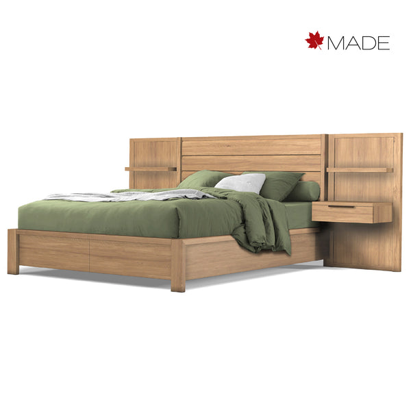 PHASE PANEL BED WITH NIGHTSTANDS