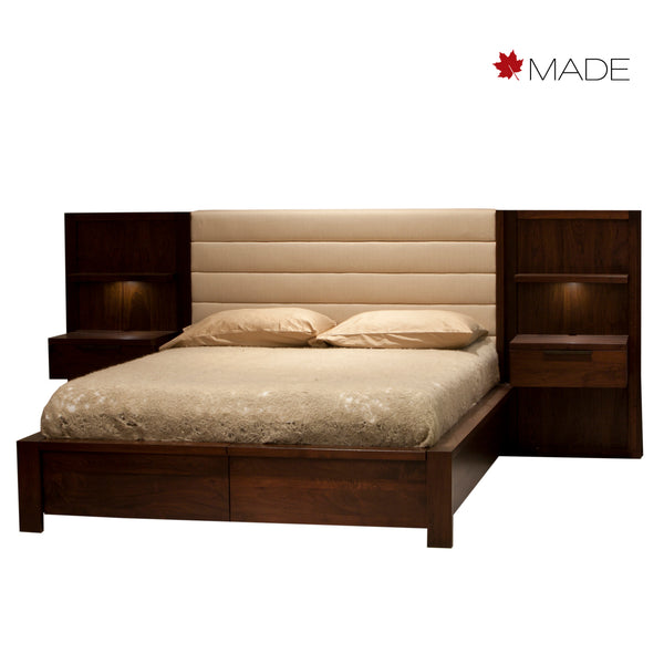 PHASE UPHOLSTERED BED W/NIGHTSTANDS